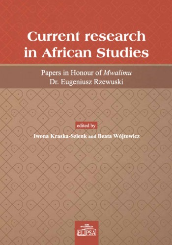 Current research in African Studies - Cover