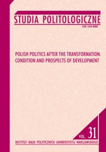 Studia Politologiczne nr 31. Polish Politics after the Transformation. Condition and Prospects of Development; Stanisław Sulowski, Jacek Zaleśny (red.)